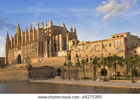Gothic Cathedral of Palma de Mallorca in Spain