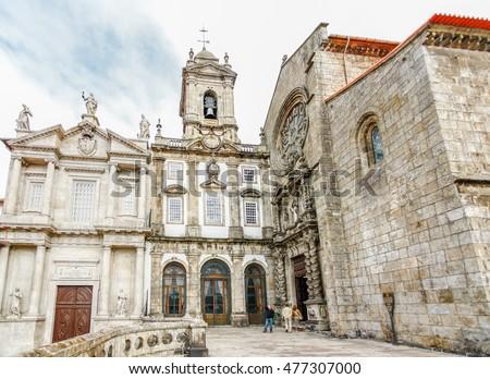 Gothic church of Saint Francis Igreja de Sao Francisco in Porto, Portugal