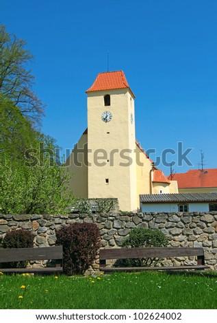 Gothic Church of St. John the Baptist, Zumberk (Sonnberg in German) by Nove Hrady in Southern Bohemia, Czech Republic
