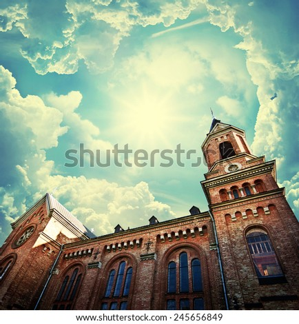 gothic church. retro stale.