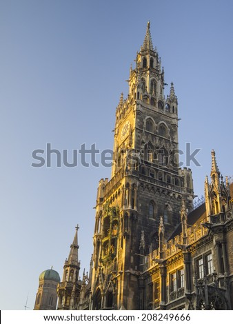 Gothic City Hall at Marienplatz in late afternoon, Munich, Bavaria, Germany
