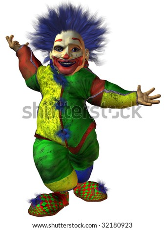 funny clown with circus tent