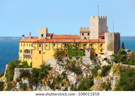 Trieste Castle Duino Gothic Duino Castle on a Cliff
