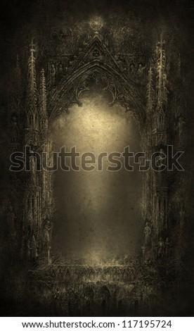 Gothic Fantasy, mixed media - stock photo