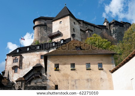 Gothic Orava castle in Oravsky Podzamok, Slovakia