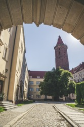 Gothic Piast Castle (Zamek Piastowski) in Legnica, Silesia, Poland