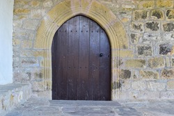 Gothic portal of a chapel in the Basque Country