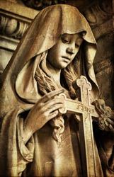 gothic sad sculpture