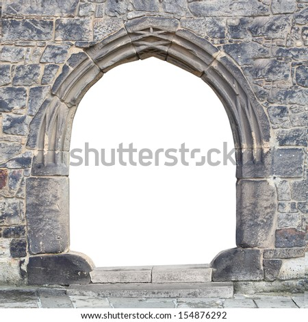 Gothic stone gate with space for your text