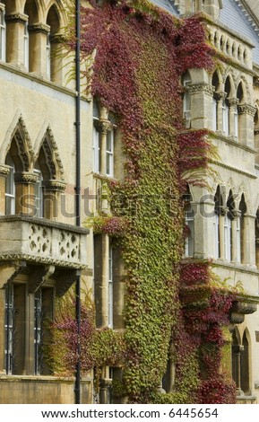 Gothic style showing the front of the famous Christchurch University in England