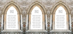 Gothic windows with space for your text.