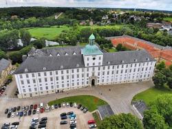 Gottorf Castle in Schleswig town, Germany. Schleswig-Holstein, Germany.