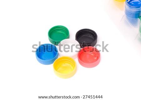 gouache paint - stock photo
