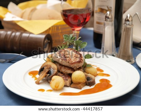 Gourmet dinner - stock photo