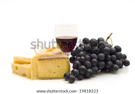 gourmet food on white background