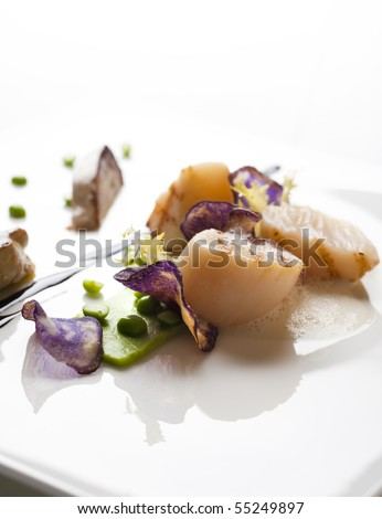 gourmet food on white plate for a birthday or other holiday meal
