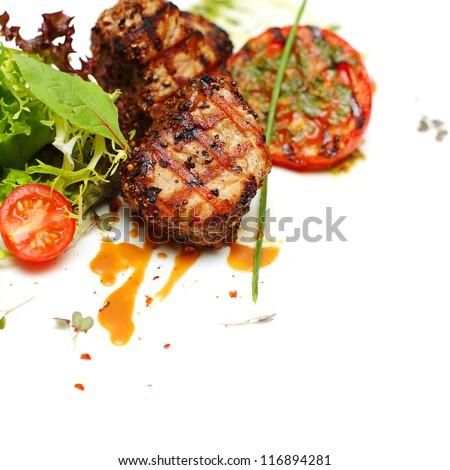 Gourmet food - steak meat, background