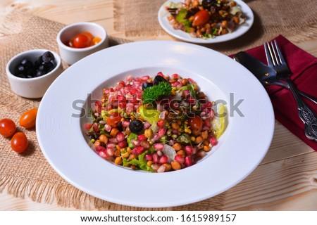Gourmet Salad on a beautiful dish
