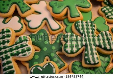 Gourmet St. Patrick's Day cookies.