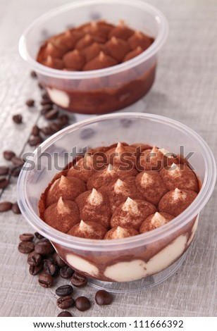 gourmet tiramisu - stock photo