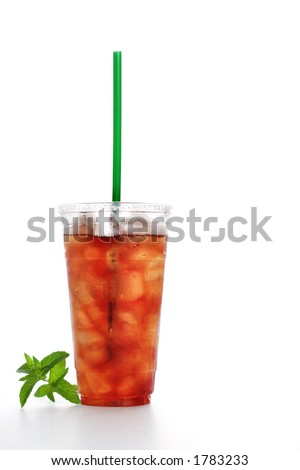Gourmet to Go (a plastic cup of iced tea with a straw)