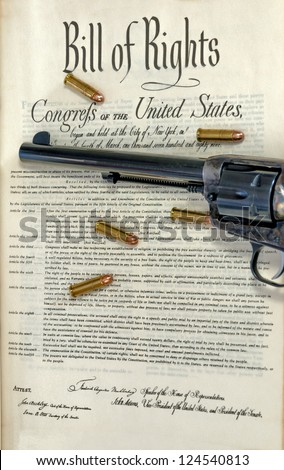 Government bill of rights and pistol