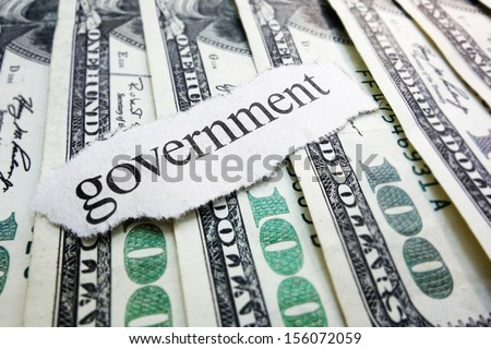 Government newspaper scrap on assorted money