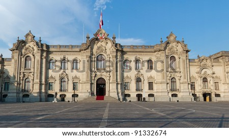 Government Palace in Lima Peru