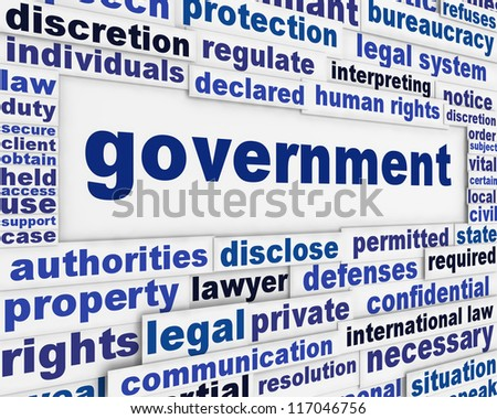 Government poster concept. Administration political message background