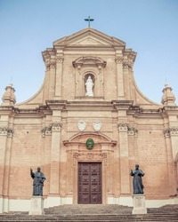 Gozo Cittadella church facade cathedral
