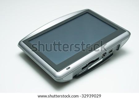 GPS Device on white background