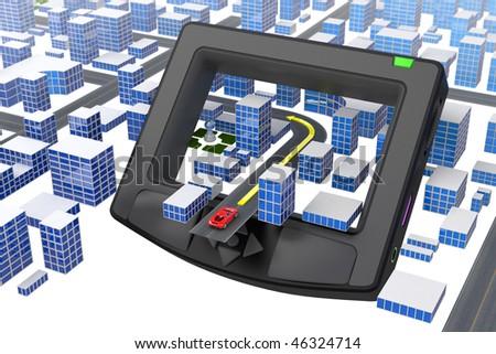 GPS. Hi-res digitally generated image.