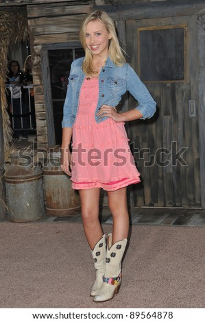 "Gracie Dzienny at the Los Angeles premiere of the animated movie ""Rango"" at the Regency Village Theatre, Westwood. February 14, 2011  Los Angeles, CA Picture: Paul Smith / Featureflash"