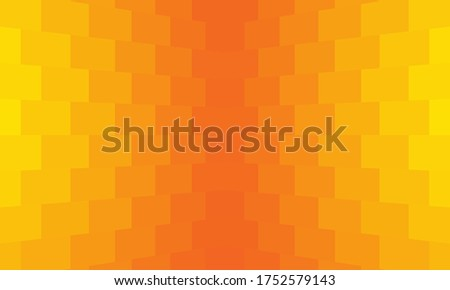 Gradient background orange. Yellow-red texture consists of rectangular shapes. Transition and gradation of orange. Texture with an orange gradient. Geometric abstract background. Abstract wallpaper Foto d'archivio ©