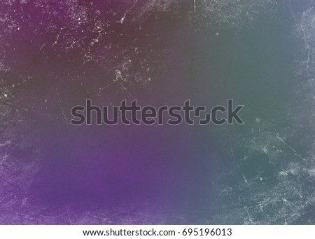 Gradient multicolored pink blue lilac green abstract background with shabby paint. Retro banner effect design with blank multicolored background. #695196013