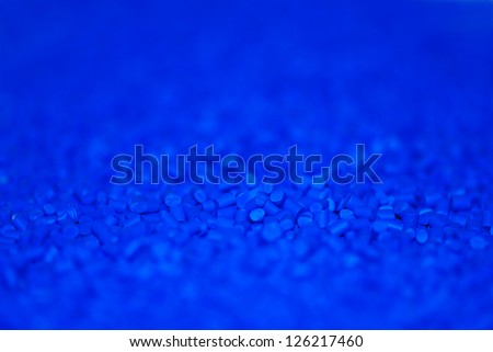 gradient of blue thermoplastic polymer resin