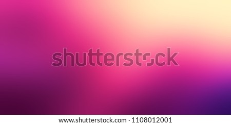 Gradient pink magenta violet yellow banner. Empty vibrant background. Blurred texture. Magical light. Abstract template. Defocused pattern gradient. Woman fashion.