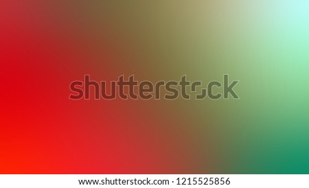 Gradient with Amulet, Green, Fire Engine Red color. Abstract blurred background with smooth color transition. Minimalism.