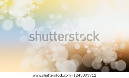 Gradient with bokeh effect, sparkle and Snow Drift, Grey, Double Pearl Lusta color. Blend modern blurred and defocused background for banner or presentation.