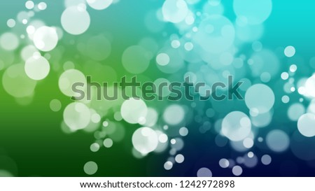 Gradient with bokeh effect, sparkle and Viking, Blue, Cruise, Green color. Blend awesome and simple defocused and blurred backdrop with the transition colors for advertising.
