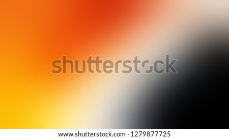 Gradient with Brandy Punch, Brown, Sunshade, Orange color. Ambiguous and foggy blurred background with defocused image. Template for website or page.