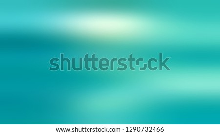Gradient with Medium Turquoise, Blue, Persian Green color. Blended abstract background with shades degradation. Modern template for advertising banner. Volume effect with horizontal stripes. Foto d'archivio ©