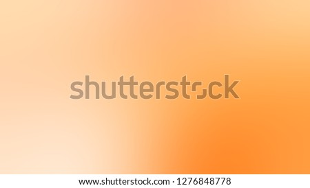 Gradient with Peach, Orange, Sunshade color. Attractive and mystical blurred background without focus. Template and wallpaper to the screen of a tablet.