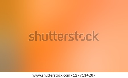 Gradient with Tacao, Orange, Sunshade color. Classic and contemporary blurred background with colorful shades. Template and wallpaper to the screen of a smartphone.