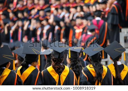 graduates are stand up in line...