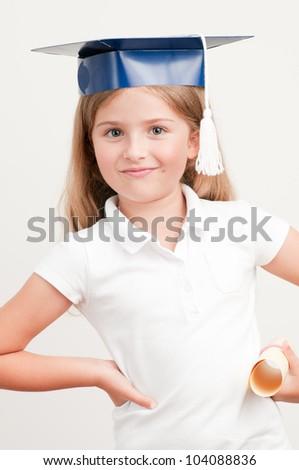 Graduation - best schoolgirl with certificate