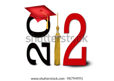 graduation cap and tassel for class of 2012