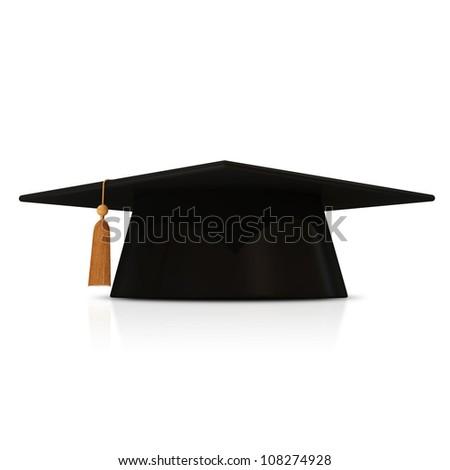 Graduation Cap isolated on white background