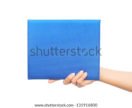 graduation diploma in hand on white background