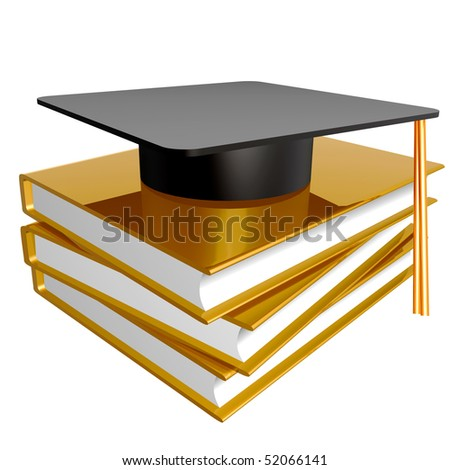 Graduation, education and knowledge icon illustration